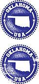Oklahoma USA Stamps