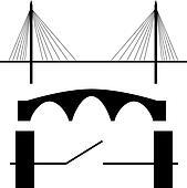 Bridge silhouette vector
