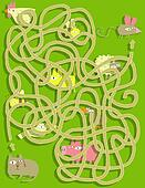 Cat and Mouse Maze Game. Solution in hidden layer!