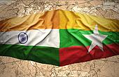 Myanmar and India