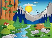 Cartoon forest landscape 2
