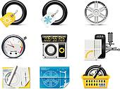 Car service icons. P.1. Tires