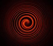 Concentric circles red