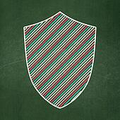 Privacy concept: Shield on chalkboard background