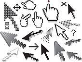 Pixelated icons