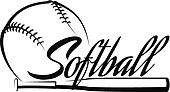 Softball Ball Banner
