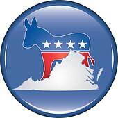 Democrat Virginia Button