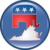 Republican Virginia Button