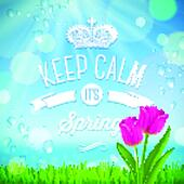 Keep calm it's spring - vector