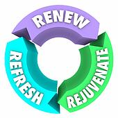 Renew Refresh Rejuvenate Words New Change Better Improvement