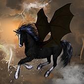 Black unicoren