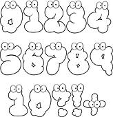 Outlined Numbers-Vector Collection