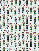 seamless boy/girl scout pattern