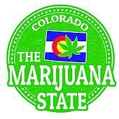 The marijuana state, Colorado stamp