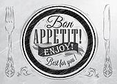 Bon appetit! enjoy! coal