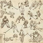 Ice Hockey - Hand drawn pack