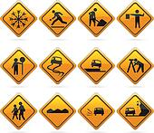 Glossy Diamond Road Signs