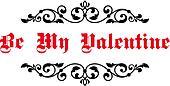 Vintage decorative header Be My Valentine
