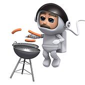 3d Astronaut barbeque