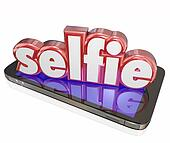 Selfie Word 3d Camera Phone Self Portrait Social Media