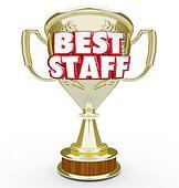 Best Staff Trophy Prize Award Top Workforce Team Employees