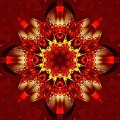 Symmetrical fractal pattern with shiny strips. Collection -  rhi