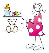 Funny pregnant mother