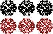 Mechanic Handyman Service Stamps