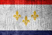 Flag of New Orleans, Louisiana, on a luxurious, fashionable canv