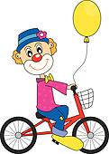 Clown bicycle.