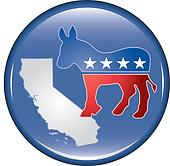Democrat California Button