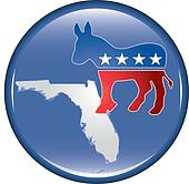 Democrat Florida Button