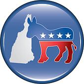 Democrat New Hampshire Button