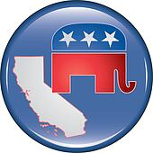 Republican California Button