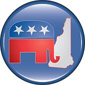 Republican New Hampshire Button