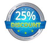 25 percent discount