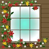 autumn window view