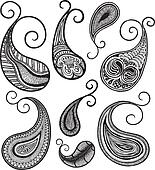 hand drawing paisley doodle