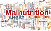 Malnutrition background concept