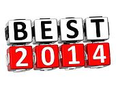3D Best 2014 Button Click Here Block Text