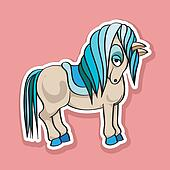 pretty horse sticker
