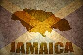 jamaica vintage  map