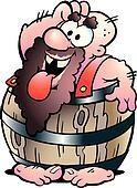 Man in a Beer Barrel