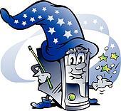Wizard Computer Repair Mascot