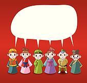 cartoon chinese people speech ,card