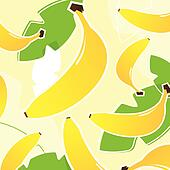 Banana: Fresh tropical fruit texture or pattern ( yellow and gre