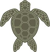 Hawaiian Sea Turtle Clip Art Green Sea Turtle