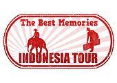 Indonesia tour stamp