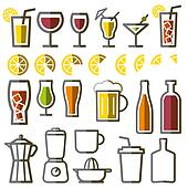 Beverage vector icon line symbol
