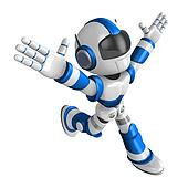 Ten thousand and three and ran a blue Robot. Create 3D Humanoid Robot Series.